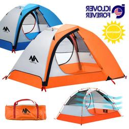 2 Person Backpacking Tent Camping Hiking Double Layer Lightw