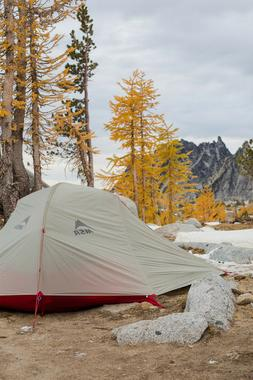 MSR Freelite 3 Tent: 3-Person 3-Season Red Backpacking tent
