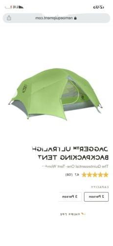 Nemo Dagger 2P Lightweight 2 Person Backpacking Camping Tent