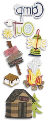 Touch Of Jolee's Dimensional Sticker-Camping