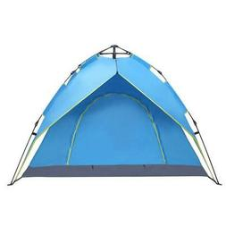 Portable Family Camping Tent 4 Persons Patio Waterproof Back